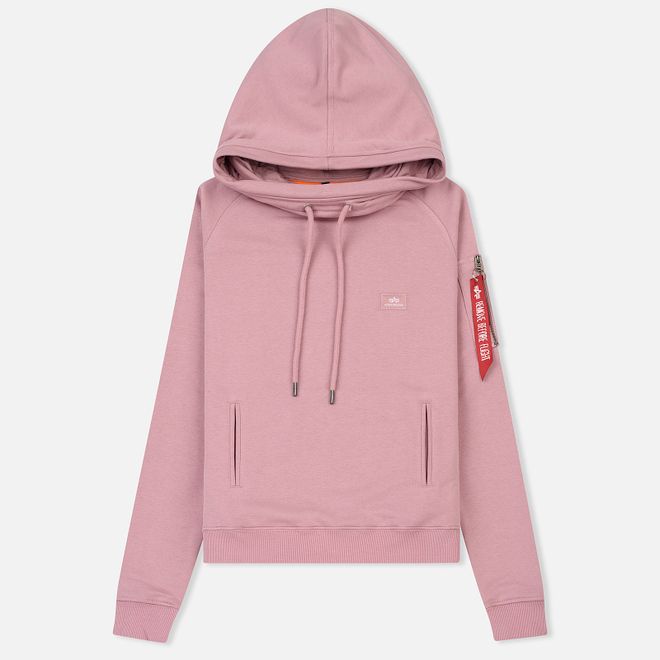 Женская толстовка Alpha Industries X-Fit Hoodie Silver Pink