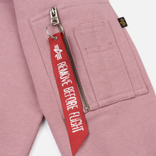 Женская толстовка Alpha Industries X-Fit Hoodie Silver Pink фото- 4