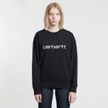 Женская толстовка Carhartt WIP W' Carhartt 13 Oz Black/White фото- 1