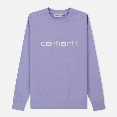 Женская толстовка Carhartt WIP W' Carhartt 13 Oz Soft Lavender/White