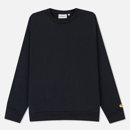 Женская толстовка Carhartt WIP W' Chase 12.9 Oz Dark Navy/Gold