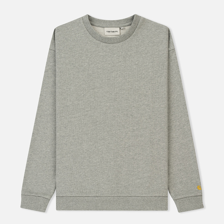 Женская толстовка Carhartt WIP W' Chase 13 Oz Grey Heather/Gold