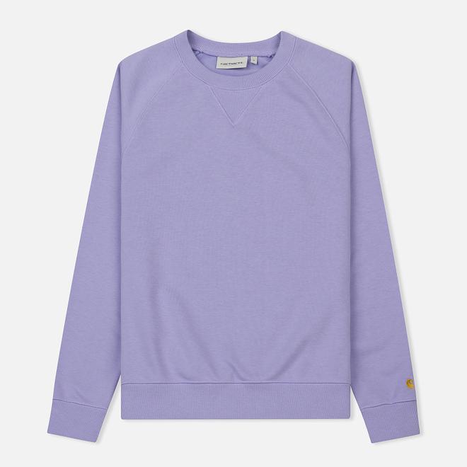 Женская толстовка Carhartt WIP W' Chase Soft Lavender/Gold
