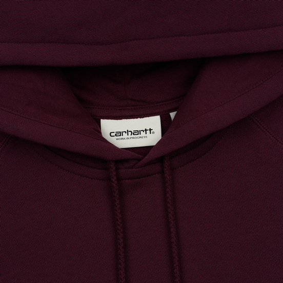 Женская толстовка Carhartt WIP W' Chasy Hooded 9.1 Oz Merlot/Gold