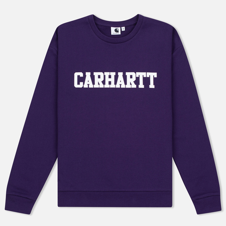Женская толстовка Carhartt WIP W' College 9.1 Oz Emperor/White