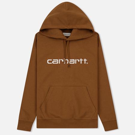 Женская толстовка Carhartt WIP W' Hooded Carhartt Hamilton Brown/White