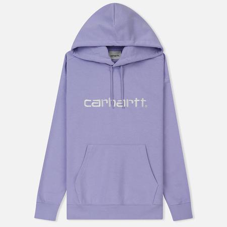 Женская толстовка Carhartt WIP W' Hooded Carhartt Soft Lavender/White