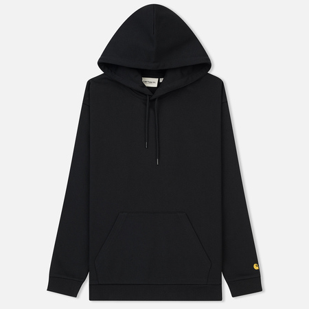 Женская толстовка Carhartt WIP W' Hooded Chase 13 Oz Black/Gold