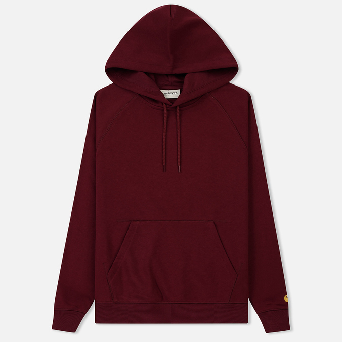 f9412afaa066 Женская толстовка Carhartt WIP W  Hooded Chase 13 Oz Mulberry Gold ...