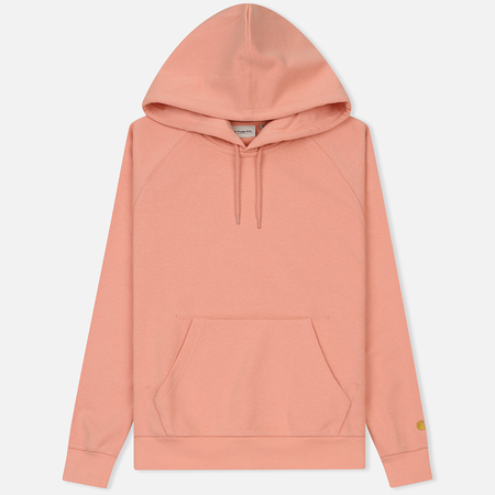 Женская толстовка Carhartt WIP W' Hooded Chase 13 Oz Peach/Gold