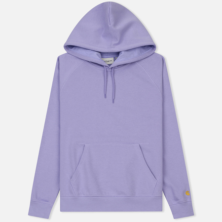 Женская толстовка Carhartt WIP W' Hooded Chase 13 Oz Soft Lavender/Gold