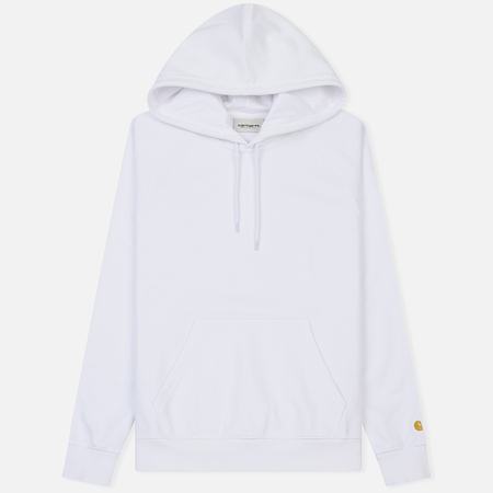 Женская толстовка Carhartt WIP W' Hooded Chase 13 Oz White/Gold