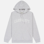 Женская толстовка Carhartt WIP W' Hooded Yale Ash Heather/White фото- 0