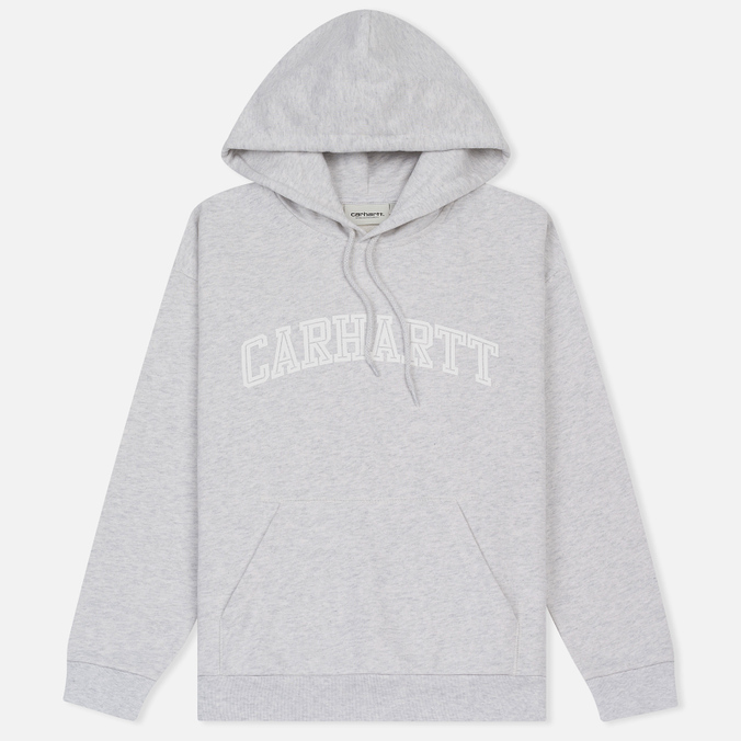 Женская толстовка Carhartt WIP W' Hooded Yale Ash Heather/White
