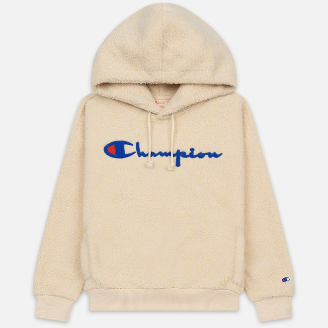 Женская толстовка Champion Reverse Weave Big Script Hooded Lamb Effect Bonded Camel