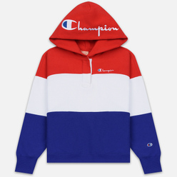Женская толстовка Champion Reverse Weave Big Script Hooded Racing Red/White/Navy