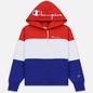 Женская толстовка Champion Reverse Weave Big Script Hooded Racing Red/White/Navy фото - 0