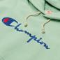 Женская толстовка Champion Reverse Weave Big Script & Logo Sleeve Hoodie Green фото - 1