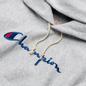 Женская толстовка Champion Reverse Weave Big Script & Logo Sleeve Hoodie Light Grey фото - 1