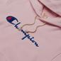 Женская толстовка Champion Reverse Weave Big Script & Logo Sleeve Hoodie Baby Pink фото - 1