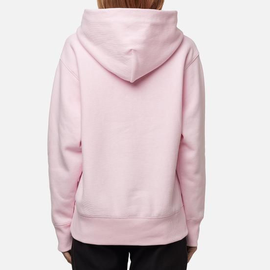 Женская толстовка Champion Reverse Weave Big Script & Logo Sleeve Hoodie Baby Pink