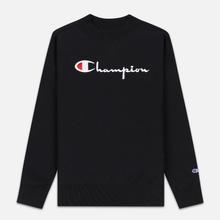 Женская толстовка Champion Reverse Weave Big Script Oversize Crew Neck Black фото- 0