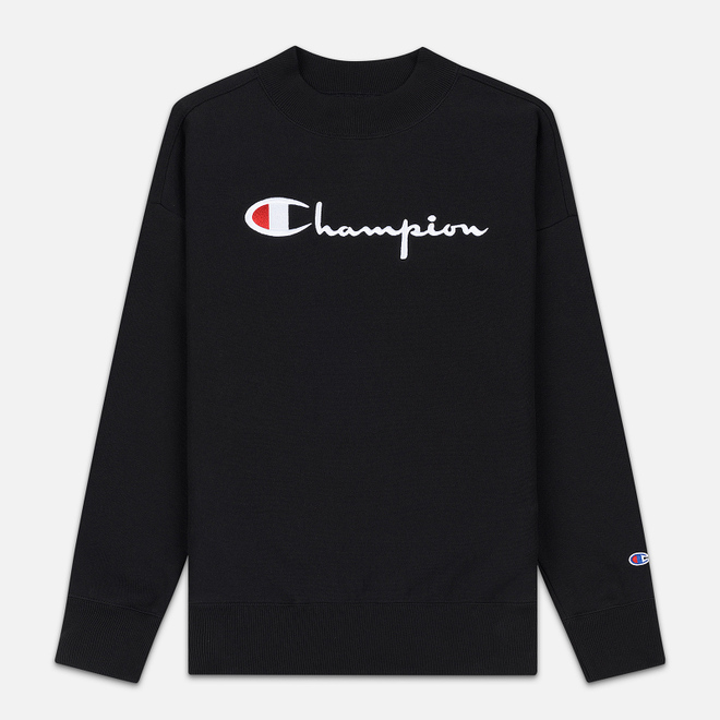 Женская толстовка Champion Reverse Weave Big Script Oversize Crew Neck Black