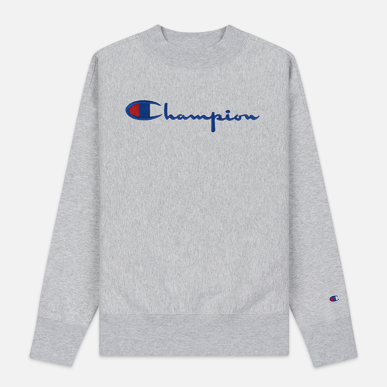 Женская толстовка Champion Reverse Weave Big Script Oversize Crew Neck Light Grey