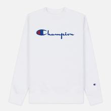 Женская толстовка Champion Reverse Weave Big Script Oversize Crew Neck White фото- 0