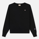 Женская толстовка Champion Reverse Weave Classic Crew Neck Black фото- 0