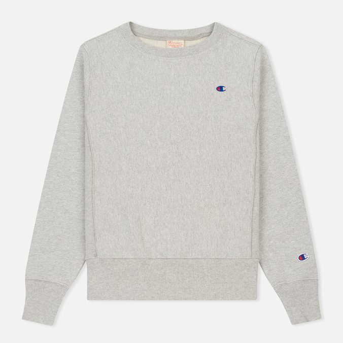 Женская толстовка Champion Reverse Weave Classic Crew Neck Heather Grey