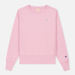 Женская толстовка Champion Reverse Weave Classic Crew Neck Light Pink фото- 0