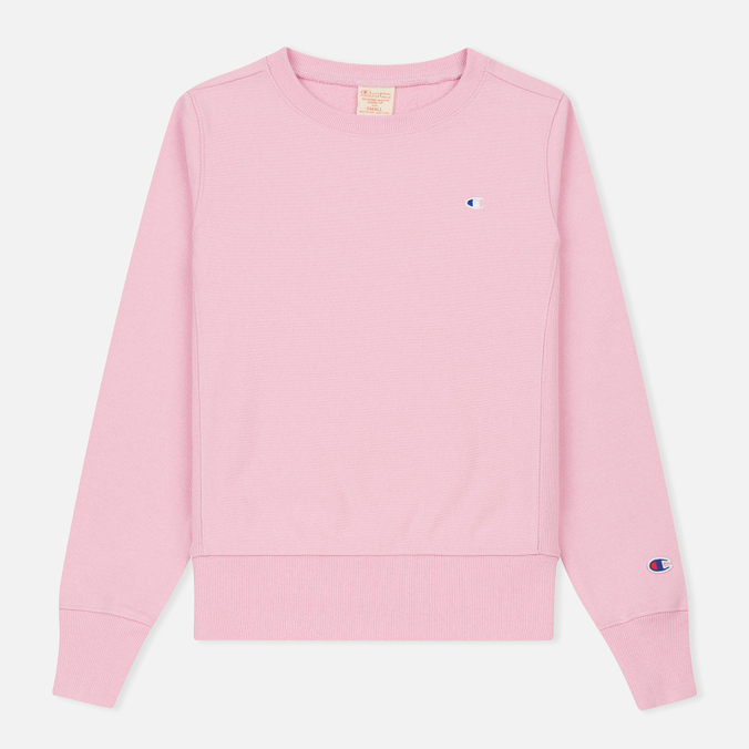 Женская толстовка Champion Reverse Weave Classic Crew Neck Light Pink
