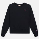 Женская толстовка Champion Reverse Weave Crew Neck Black фото- 0
