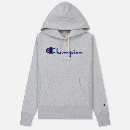 Женская толстовка Champion Reverse Weave Hooded Light Grey
