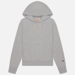 Женская толстовка Champion Reverse Weave Logo Sleeve Hoodie Light Grey