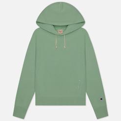 Женская толстовка Champion Reverse Weave Logo Sleeve Hoodie Lime Green