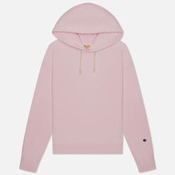 Женская толстовка Champion Reverse Weave Logo Sleeve Hoodie Pink