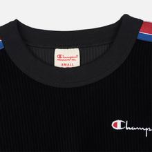 Женская толстовка Champion Reverse Weave Logo Tape Crew Neck Black фото- 3