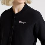 Женская толстовка Champion Reverse Weave Maxi Full Zip Longline Bomber Black фото- 9