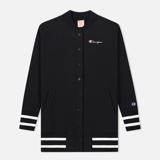 Женская толстовка Champion Reverse Weave Maxi Full Zip Longline Bomber Black