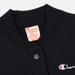 Женская толстовка Champion Reverse Weave Maxi Full Zip Longline Bomber Black фото- 1