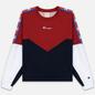 Женская толстовка Champion Reverse Weave Peached Feel Crinckle Water Repellent Crew Neck Dark Red/Navy/White фото - 0