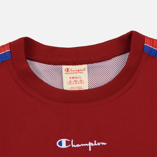 Женская толстовка Champion Reverse Weave Peached Feel Crinckle Water Repellent Crew Neck Dark Red/Navy/White