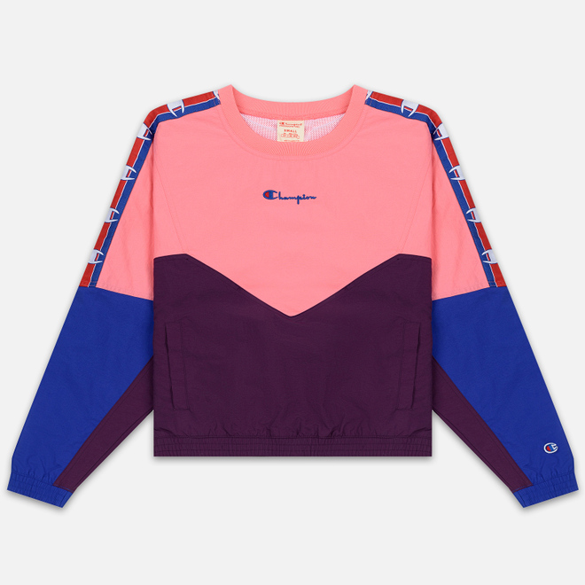 Женская толстовка Champion Reverse Weave Peached Feel Crinckle Water Repellent Crew Neck Pink/Violet/Blue