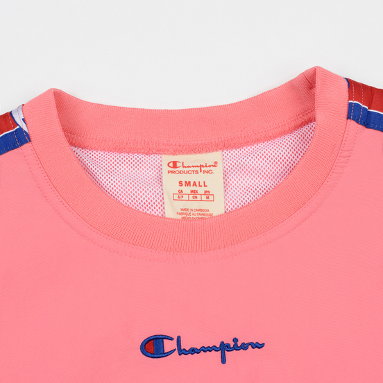 Женская толстовка Champion Reverse Weave Peached Feel Crinckle Water Repellent Crew Neck Pink/Violet/Blue