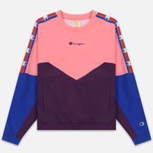 Женская толстовка Champion Reverse Weave Peached Feel Crinckle Water Repellent Crew Neck Pink/Violet/Blue фото- 0