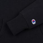 Champion Reverse Weave Script Logo Hooded Women's Hoody Black photo- 3