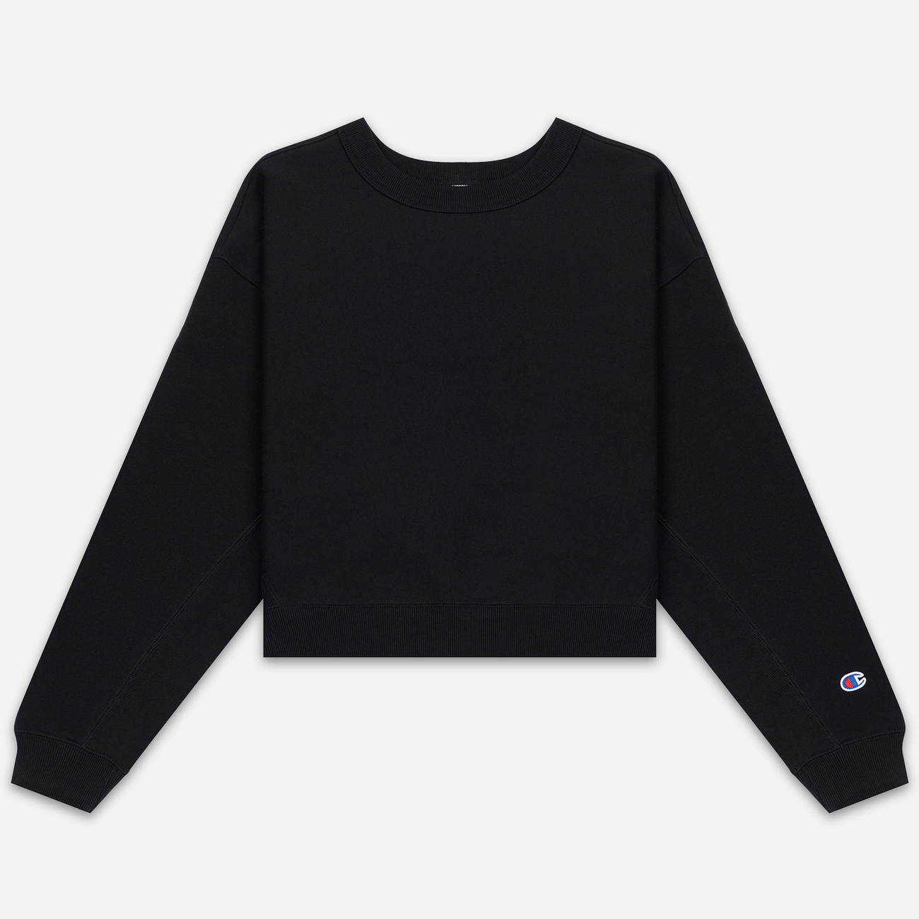 Женская толстовка Champion Reverse Weave Sleeve Logo Crew Neck Black