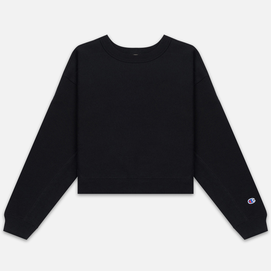 Женская толстовка Champion Reverse Weave Sleeve Logo Crew Neck Black